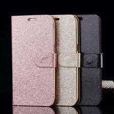 Étui de Flip Glitter Bling Poudre Coque Housse Portefeuille Pour Samsung iPhone