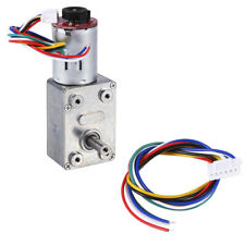 Gear Box Dc 12v Reversible High Torque Turbo Worm Reduction Electric Motor 10rpm