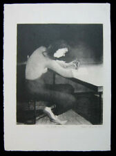 1938 Original Grant Arnold Lithograph Print of The White Soaks Signed Excellent