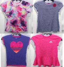 Clothing Lot of 4 Youth Girls Small 6/6X T Shirts Adidas J. Khaki C9 Pink Purple