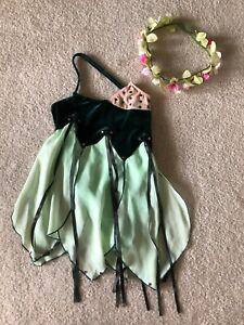 Girl's Green Ballet Costume and Headpiece - Child Medium
