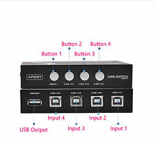 4 Ports USB 2.0 Sharing Switch Switcher Adapter Box Hub For PC Scanner Printer