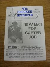 Nov-1988 Chesterfield: The Crooked Spireite  No.08 - Independent Football Magazi