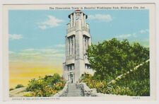 USA postcard - The Observation Tower in Washington Park, Michigan, Indianapolis