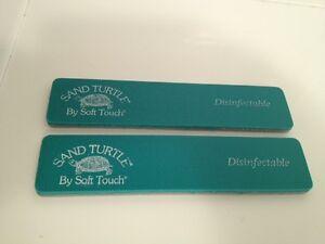 2 NSI Sand Turtle Nail File 120 Fine Grit New - Cuticles