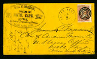 US Stamps 65 E. Mason Hats Capes and Furs Advertising Cover Clean 1800's Vintage