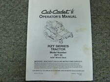 """Cub Cadet Rzt 22 Tractor with 50"""" Mower Deck Owner Operator Maintenance Manual"""