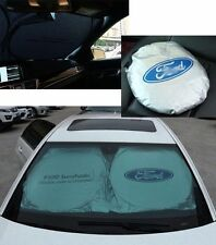 For Ford Front Rear Car Window Foldable Sun Shade Shield Cover Visor UV Block