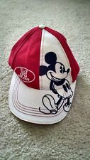 Disney World Mickey Mouse Red & White Cap One Size Adjustable