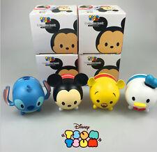 4 pcs Tsum mini Anime Minnie Mickey Winnie Stitch piggy bank cute cartoon doll