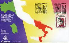Spanish Andorra 2018 FDC Italian Community Dante Alighieri 1v Set Cover Stamps