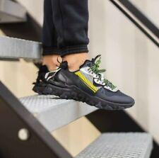 Nike reaccionar visión Premium 3M Hombre Negro Volt Gris Zapatillas Zapatos Todas Las Tallas