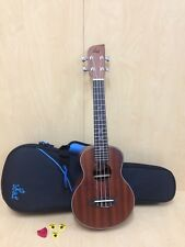 Leaf Series C100 All-Mahogany Concert Ukulele,Satin+10mm Padded Gig Bag(Blue)