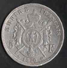 5 FR ARGENT NAPOLÉON III 1870 BB COTE 650 € EN FDC VOIR PHOTO ET DESCRIPTIF