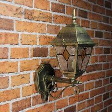 Rustikale Außenwandleuchte in antik gold aufwärts E27 Außenleuchte Wandlampe Hof