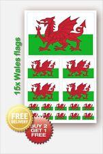 15x Welsh Wales Cymru Flag Vinyl decals Car Van Bike Waterproof Stickers