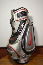 Nike 20Xi Golf Cart Bag Silver/Black 6 Way 5 Zip Pockets Dented Tube