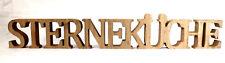 Schriftzug Sterneküche aus Holz 59 x 8 x 2 cm Natur Buchstaben Deko