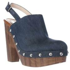High (3 in. to 4.5 in.) Block Denim Heels for Women