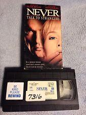 Never Talk to Strangers (1995) - VHS Video Tape - Crime / Drama-Antonio Banderas
