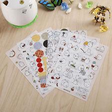 6 Blätter Kaninchen Tagebuch Karten Kalender Aufkleber Scrapbooking 10*15 cm