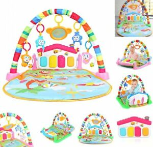 3 in 1 Baby Gym Play Mat Lay & Play Fitness Music And Lights Fun Piano Green