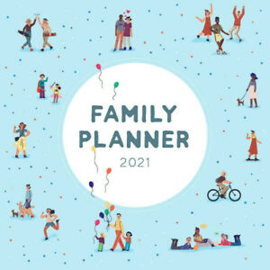 2021 Family Planner Square Wall Calendar 30 x 30cm by Paper Pocket 17164