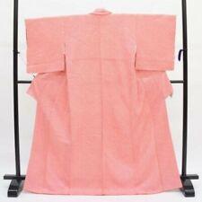Brand newKimono Silk100% Hand Sawed Shibori Japan Pink
