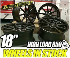 "18"" ALLOY WHEELS 18 INCH TURIZMO FIT 5X118 MATT BLACK ALLOYS TRAFIC VIVARO"