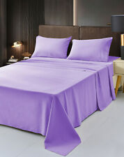 Luxury Bamboo Sheet Soft Hypoallergenic Lavender Queen Deep Pocket 4 Pc Set
