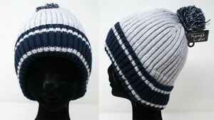 Brand New Thomas Calvi Gents Striped Bobble Hat, Great For Winter, FREE P&P!!!