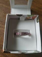 NWT October Swarovski Crystal Eternity Band Ring Size 8