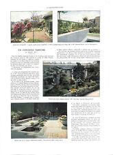 Concours à Paris fleurs potager verger cour jardin terrasse ILLUSTRATION 1933