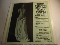 Todd Rundgren And The Hello People Live In The Studio 5/2/72 LP + FREE CD