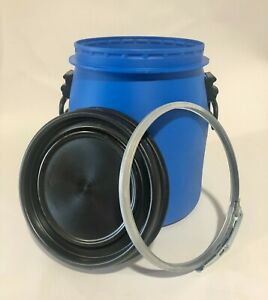 New 20 L Plastic Open Top Storage Container Drum Barrel Keg UN Food Approved