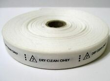 DRY CLEAN ONLY - Clothing Care Tag Labels For Fabric Garments Apparel
