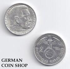 Germany 2 Reichsmark 1936 - 1939 A D E F G J - bitte auswählen/please select