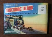 Mackinac Island Souvenir Photo Pack Postcard From 1955 #D10729