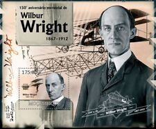 WILBUR WRIGHT / Wright Brothers Flyer Aircraft Stamp Sheet 2 (2012 Mozambique)