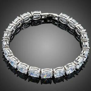 Valentines Gift For Her Love Wife OVAL CUBIC ZIRCONIA TENNIS BRACELET FOR WOMAN