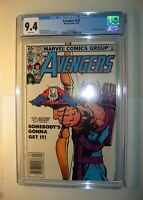 Avengers #223 CGC 9.4, NM, White pages,1982, Taskmaster appearance.