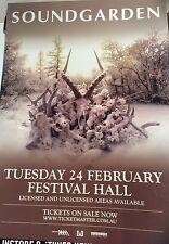 One Soundgarden Tour Feb Festival Hall Melbourne Poster
