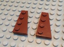 NEW / LEGO / 2 Red Brown Parts / Right Plate 2x4 W. Angle / 4205469 / 41769