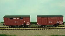 reemodels WB247 PLM Set 2X Covered Wagons ocem19 Red Brown EP2 H0 NIP