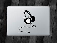 Headphones Sticker Headset DJ Decal Apple MacBook Mac iPad Laptop Window Car