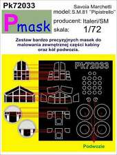 SAVOIA S.M.81 PIPISTRELLO PAINTING MASK TO ITALERI/SUPER MODEL#72033 1/72 PMASK