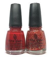 china glaze nail polish Red Satin 1111 + Pure Joy 1113 Holiday Joy Lacquer