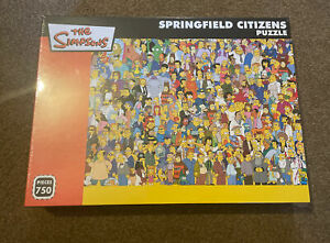 Rare The Simpsons Springfield Citizens Puzzle Brand New Sealed 750 Pieces Lft