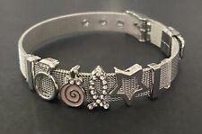 🍬Metal Silver Mesh Charm Bracelet LOLLYPOP🍬
