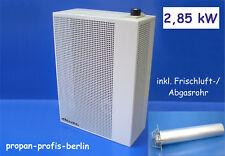Außenwandheizer 2,85 kW Gasheizung Gasheizautomat Propangas